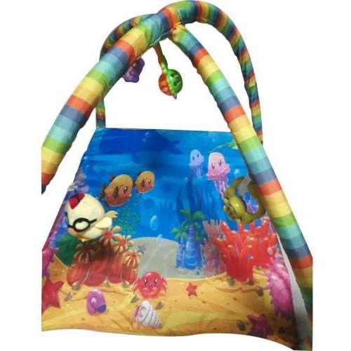Bebek Oyun Halısı Oyuncaklı Çocuk Oyun Halısı 5 Adet Oyuncaklı Su Altı Desenli Oyun Halısı
