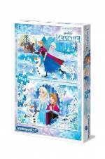 Frozen ( Karlar Ülkesi ) 2X20 Parça Çocuk Puzzle 07030 /