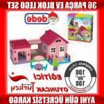 Oyuncak Ev Lego Seti 36 Parça Bloklar Okul Öncesi Çocuk Oyunları Tek Katlı Eğlenceli Ev Blokları