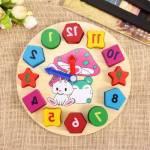 Eğitici Renkli Ahşap Oyuncak Tavşan Bultak Puzzle Oyunu