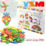 Eğitici Ahşap Oyuncak 140 Parça Kutulu Tangram Puzzle Oyunu
