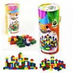 Woodoy Eğitici Oyuncak 100 Parça Renkli Ahşap Bloklar Kargo Ücretsiz
