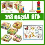 Eğitici Oyuncak Zeka Oyunları 4 İn 1 Set Hayvan Bultak-Renkli Kule-Kitap Puzzle-9 Parça Renkli Puzle