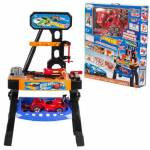 Hot Wheels Erkek Çocuk Oyuncak Büyük Boy Tezgahlı Tamir Seti Sesli Arabalı Hareketli Matkaplı 50 Pçs