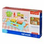Fisher Price Stove Set Evcilik Oyunları Ocak Seti Aksesuarlı Tava Yemek Yapma Eğlenceli Oyuncak