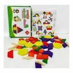 Montessori Ahşap Oyuncak 60 Parça Ahşap Tangram Hamaha