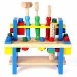 Ahşap Tezgahlı Oyuncak Tamir Seti Oyuncak Çalışma Tezgahı