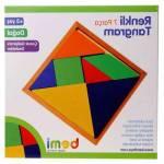 Renkli 7 Li Tangram Ahşap Bloklar Çocuk Oyuncak Oyun Seti Anaokulu Okul Öncesi Eğitici Öğretici