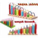 Ahşap Oyuncak Abaküs Boncuk Sayma Eğitici Geliştirici Oyuncak Sayı Sayma