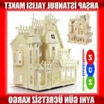 239 Parça Ahşap Maket Ev Puzzle Oyuncak İstanbul Yalısı Ahşap Lego Pazıl Maket Kerfgt5678