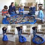 Bundera Oyuncak Hurcu Çantası Oyun Halısı Hurç Sepet Erkek Kız Çocuk Oyuncak Saklama Kutusu Sepeti