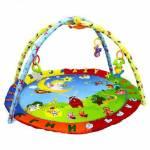 Bebek Oyun Halısı Eğlenceli Gökyüzü Yuvarlak Rengarenk Oyun Halısı Babycim