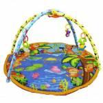Bebek Oyun Halısı Okyanus Yuvarlak Rengarenk Oyun Halısı Babycim