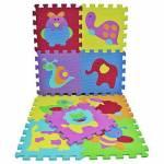 Eva Hayvanlar Puzzle Eva Puzzle Bebek Oyun Karosu Hayvanlar Temalı Yer Matı 33X33 Cm
