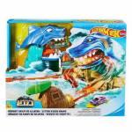 Hot Wheels Köpek Balığı Sharky Macerası Oyun Seti Hot Wheels Çılgın Araba Yarış Seti Yeni Tasarım